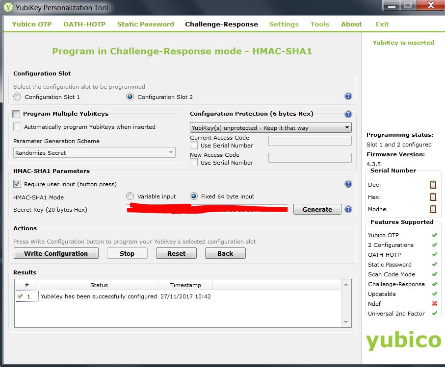 Yubikey Personalization Tool 3